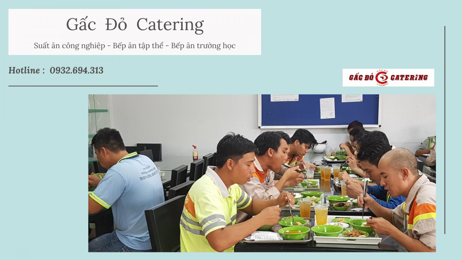 Suất  ăn công nghiệp Gấc đỏ Catering